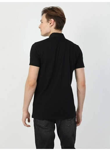 Colin's Slim Fit Standart Kol Polo Yaka Erkek Kısa Kol Polo Tişört Siyah